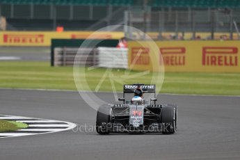 World © Octane Photographic Ltd. McLaren Honda MP4-31 – Fernando Alonso. Friday 8th July 2016, F1 British GP Practice 1, Silverstone, UK. Digital Ref : 1619LB1D1609