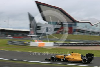 World © Octane Photographic Ltd. Renault Sport F1 Team RS16 – Jolyon Palmer. Friday 8th July 2016, F1 British GP Practice 1, Silverstone, UK. Digital Ref : 1619LB5D5381