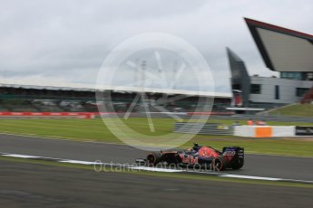 World © Octane Photographic Ltd. Scuderia Toro Rosso STR11 – Daniil Kvyat. Friday 8th July 2016, F1 British GP Practice 1, Silverstone, UK. Digital Ref : 1619LB5D5386