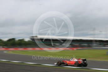 World © Octane Photographic Ltd. Scuderia Ferrari SF16-H – Sebastian Vettel. Friday 8th July 2016, F1 British GP Practice 1, Silverstone, UK. Digital Ref : 1619LB5D5533