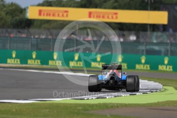 World © Octane Photographic Ltd. Manor Racing MRT05 - Pascal Wehrlein. Friday 8th July 2016, F1 British GP Practice 2, Silverstone, UK. Digital Ref : 1621LB1D2552