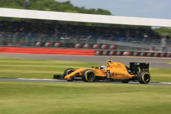 World © Octane Photographic Ltd. Renault Sport F1 Team RS16 – Jolyon Palmer. Friday 8th July 2016, F1 British GP Practice 2, Silverstone, UK. Digital Ref : 1621LB5D5829
