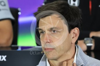 World © Octane Photographic Ltd. F1 British GP FIA Personnel Press Conference, Silverstone, UK. Friday 8th July 2016. Toto Wolff – Mercedes AMG Petronas Chief Executive. Digital Ref : 1624LB1D2611