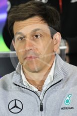 World © Octane Photographic Ltd. F1 British GP FIA Personnel Press Conference, Silverstone, UK. Friday 8th July 2016. Toto Wolff – Mercedes AMG Petronas Chief Executive. Digital Ref : 1624LB1D2620