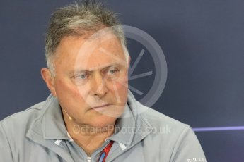 World © Octane Photographic Ltd. F1 British GP FIA Personnel Press Conference, Silverstone, UK. Friday 8th July 2016. Dave Ryan – Manor Racing Racing Director. Digital Ref : 1624LB1D2642