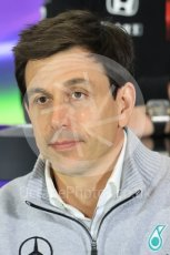 World © Octane Photographic Ltd. F1 British GP FIA Personnel Press Conference, Silverstone, UK. Friday 8th July 2016. Toto Wolff – Mercedes AMG Petronas Chief Executive. Digital Ref : 1624LB1D2646