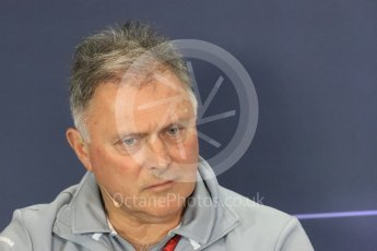 World © Octane Photographic Ltd. F1 British GP FIA Personnel Press Conference, Silverstone, UK. Friday 8th July 2016. Dave Ryan – Manor Racing Racing Director. Digital Ref : 1624LB1D2779
