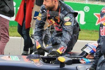 World © Octane Photographic Ltd. Red Bull Racing RB12 – Max Verstappen. Sunday 12th June 2016, F1 Canadian GP Parc Ferme, Circuit Gilles Villeneuve, Montreal, Canada. Digital Ref :1591LB1D3276