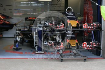 World © Octane Photographic Ltd. Scuderia Toro Rosso STR11 noses and front wings. Thursday 9th June 2016, F1 Canadian GP Pitlane, Circuit Gilles Villeneuve, Montreal, Canada. Digital Ref :1581LB1D9182