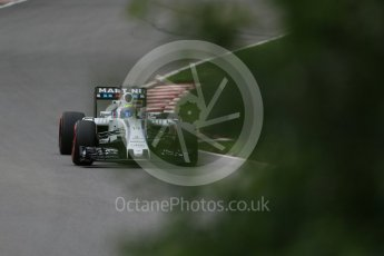 World © Octane Photographic Ltd. Williams Martini Racing, Williams Mercedes FW38 – Felipe Massa. Friday 10th June 2016, F1 Canadian GP Practice 1, Circuit Gilles Villeneuve, Montreal, Canada. Digital Ref : 1586LB1D9827