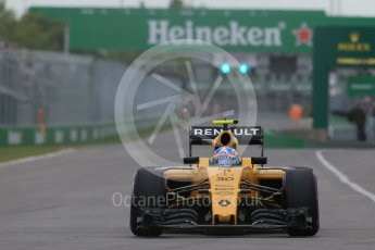 World © Octane Photographic Ltd. Renault Sport F1 Team RS16 – Jolyon Palmer. Saturday 11th June 2016, F1 Canadian GP Qualifying, Circuit Gilles Villeneuve, Montreal, Canada. Digital Ref :1589LB1D1526