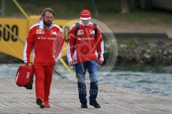 World © Octane Photographic Ltd. Scuderia Ferrari – Kimi Raikkonen and Vice-Presidnet Corporate Affairs Gino Rosato . Sunday 12th June 2016, F1 Canadian GP Paddock, Circuit Gilles Villeneuve, Montreal, Canada. Digital Ref :1590LB1D2423