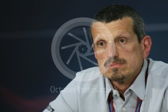 World © Octane Photographic Ltd. F1 Canadian GP FIA Personnel Press Conference, Circuit Gilles Villeneuve, Montreal, Canada. Friday 10th June 2016. Guenther Steiner – Team Principal Haas F1. Digital Ref :1585LB1D0766