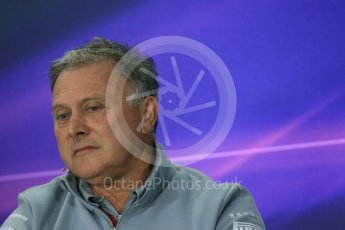 World © Octane Photographic Ltd. F1 Canadian GP FIA Personnel Press Conference, Circuit Gilles Villeneuve, Montreal, Canada. Friday 10th June 2016. Dave Ryan – Manor Racing, Racing Director. Digital Ref :1585LB1D0807