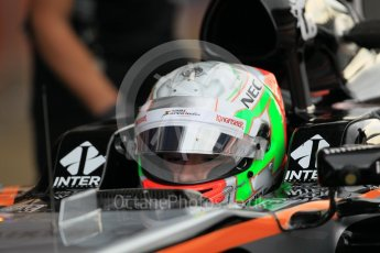World © Octane Photographic Ltd. Sahara Force India VJM09 – Alfonso Celis. Tuesday 17th May 2016, F1 Spanish In-season testing, Circuit de Barcelona Catalunya, Spain. Digital Ref : 1555CB1D2440