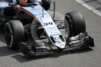 World © Octane Photographic Ltd. Sahara Force India VJM09 – Alfonso Celis. Tuesday 17th May 2016, F1 Spanish In-season testing, Circuit de Barcelona Catalunya, Spain. Digital Ref : 1555CB1D2761