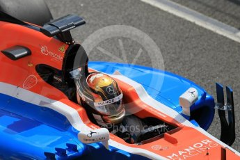 World © Octane Photographic Ltd. Manor Racing MRT05 - Pascal Wehrlein. Tuesday 17th May 2016, F1 Spanish In-season testing, Circuit de Barcelona Catalunya, Spain. Digital Ref : 1555CB1D2774