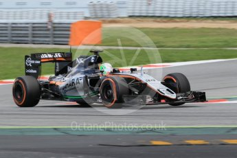 World © Octane Photographic Ltd. Sahara Force India VJM09 – Alfonso Celis. Tuesday 17th May 2016, F1 Spanish GP In-season testing, Circuit de Barcelona Catalunya, Spain. Digital Ref : 1555CB1D2879