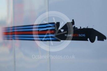World © Octane Photographic Ltd. Williams Martini Racing logo. Wednesday 18th May 2016, F1 Spanish GP In-season testing, Circuit de Barcelona Catalunya, Spain. Digital Ref : 1556CB1D3791