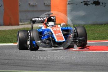 World © Octane Photographic Ltd. Manor Racing MRT05 – Jordan King. Wednesday 18th May 2016. F1 Spanish GP In-season testing, Circuit de Barcelona Catalunya, Spain. Digital Ref :