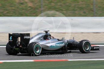 World © Octane Photographic Ltd. Mercedes AMG Petronas W07 Hybrid – Pascal Wehrlein. Wednesday 18th May 2016, F1 Spanish In-season testing, Circuit de Barcelona Catalunya, Spain. Digital Ref : 1556CB1D4242