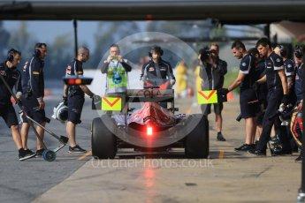 World © Octane Photographic Ltd. Scuderia Toro Rosso STR11 – Daniil Kvyat. Wednesday 18th May 2016, F1 Spanish GP In-season testing, Circuit de Barcelona Catalunya, Spain. Digital Ref : 1556CB7D9177