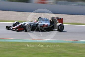 World © Octane Photographic Ltd. Haas F1 Team VF-16 - Esteban Gutierrez. Wednesday 18th May 2016, F1 Spanish GP In-season testing, Circuit de Barcelona Catalunya, Spain. Digital Ref : 1556CB7D9297