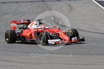 World © Octane Photographic Ltd. Scuderia Ferrari SF16-H – Antonio Fuoco. Wednesday 18th May 2016, F1 Spanish GP In-season testing, Circuit de Barcelona Catalunya, Spain. Digital Ref : 1556CB7D9476