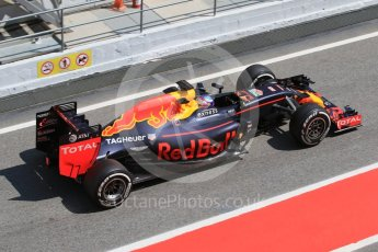 World © Octane Photographic Ltd. Red Bull Racing RB12 – Max Verstappen. Wednesday 18th May 2016, F1 Spanish GP In-season testing, Circuit de Barcelona Catalunya, Spain. Digital Ref : 1556CB7D9512