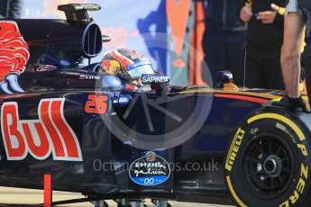 World © Octane Photographic Ltd. Scuderia Toro Rosso STR11 – Daniil Kvyat. Wednesday 18th May 2016, F1 Spanish GP In-season testing, Circuit de Barcelona Catalunya, Spain. Digital Ref : 1556LB1D0171