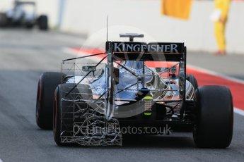 World © Octane Photographic Ltd. Sahara Force India VJM09 - Alfonso Celis. Wednesday 18th May 2016, F1 Spanish GP In-season testing, Circuit de Barcelona Catalunya, Spain. Digital Ref : 1556LB1D0182