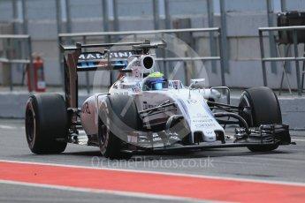 World © Octane Photographic Ltd. Williams Martini Racing, Williams Mercedes FW38 – Felipe Massa. Wednesday 18th May 2016, F1 Spanish GP In-season testing, Circuit de Barcelona Catalunya, Spain. Digital Ref : 1556LB1D0494