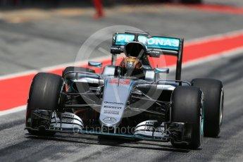 World © Octane Photographic Ltd. Mercedes AMG Petronas W07 Hybrid – Pascal Wehrlein. Wednesday 18th May 2016, F1 Spanish In-season testing, Circuit de Barcelona Catalunya, Spain. Digital Ref : 1556LB1D0863