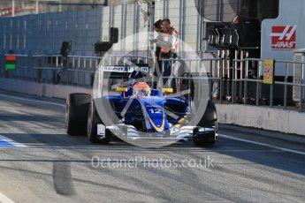 World © Octane Photographic Ltd. Sauber F1 Team C35 – Felipe Nasr. Tuesday 1st March 2016, F1 Winter testing, Circuit de Barcelona Catalunya, Spain, Day 5. Digital Ref : 1508LB1D4179