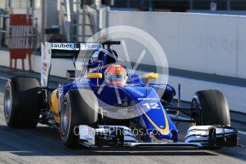 World © Octane Photographic Ltd. Sauber F1 Team C35 – Felipe Nasr. Tuesday 1st March 2016, F1 Winter testing, Circuit de Barcelona Catalunya, Spain, Day 5. Digital Ref : 1508LB1D4189