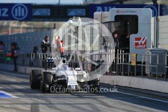 World © Octane Photographic Ltd. Williams Martini Racing, Williams Mercedes FW38 – Valtteri Bottas. Tuesday 1st March 2016, F1 Winter testing, Circuit de Barcelona Catalunya, Spain, Day 5. Digital Ref : 1508LB1D4198