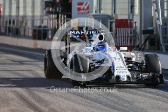 World © Octane Photographic Ltd. Williams Martini Racing, Williams Mercedes FW38 – Valtteri Bottas. Tuesday 1st March 2016, F1 Winter testing, Circuit de Barcelona Catalunya, Spain, Day 5. Digital Ref : 1508LB1D4206