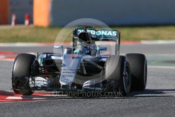 World © Octane Photographic Ltd. Mercedes AMG Petronas W07 Hybrid – Nico Rosberg. Tuesday 1st March 2016, F1 Winter testing, Circuit de Barcelona Catalunya, Spain, Day 5. Digital Ref : 1508LB1D4375