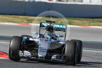 World © Octane Photographic Ltd. Mercedes AMG Petronas W07 Hybrid – Nico Rosberg. Tuesday 1st March 2016, F1 Winter testing, Circuit de Barcelona Catalunya, Spain, Day 5. Digital Ref : 1508LB1D4440