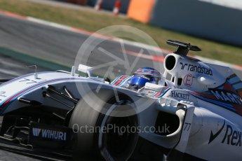 World © Octane Photographic Ltd. Williams Martini Racing, Williams Mercedes FW38 – Valtteri Bottas. Tuesday 1st March 2016, F1 Winter testing, Circuit de Barcelona Catalunya, Spain, Day 5. Digital Ref : 1508LB1D4458
