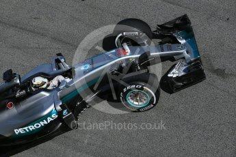 World © Octane Photographic Ltd. Mercedes AMG Petronas W07 Hybrid – Lewis Hamilton. Tuesday 1st March 2016, F1 Winter testing, Circuit de Barcelona Catalunya, Spain, Day 5. Digital Ref : 1508LB1D4802