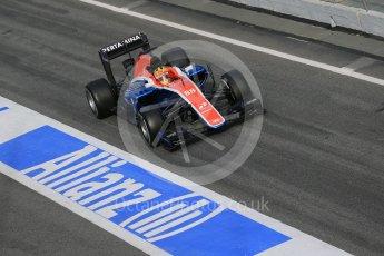 World © Octane Photographic Ltd. Manor Racing MRT05 – Rio Haryanto. Tuesday 1st March 2016, F1 Winter testing, Circuit de Barcelona Catalunya, Spain, Day 5. Digital Ref : 1508LB1D5101