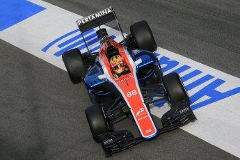 World © Octane Photographic Ltd. Manor Racing MRT05 – Rio Haryanto. Tuesday 1st March 2016, F1 Winter testing, Circuit de Barcelona Catalunya, Spain, Day 5. Digital Ref : 1508LB1D5106