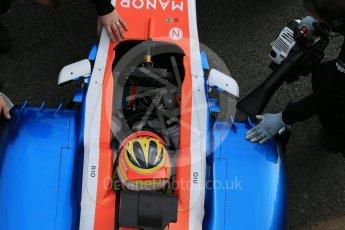 World © Octane Photographic Ltd. Manor Racing MRT05 – Rio Haryanto. Tuesday 1st March 2016, F1 Winter testing, Circuit de Barcelona Catalunya, Spain, Day 5. Digital Ref : 1508LB1D5173