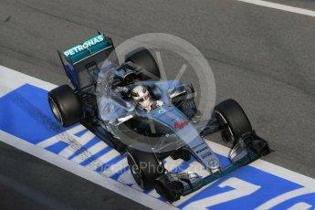 World © Octane Photographic Ltd. Mercedes AMG Petronas W07 Hybrid – Lewis Hamilton. Tuesday 1st March 2016, F1 Winter testing, Circuit de Barcelona Catalunya, Spain, Day 5. Digital Ref : 1508LB1D5233