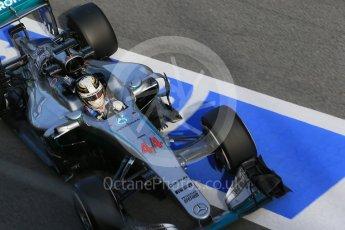 World © Octane Photographic Ltd. Mercedes AMG Petronas W07 Hybrid – Lewis Hamilton. Tuesday 1st March 2016, F1 Winter testing, Circuit de Barcelona Catalunya, Spain, Day 5. Digital Ref : 1508LB1D5236