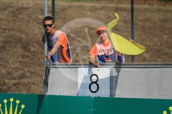 World © Octane Photographic Ltd. Yellow flags. Saturday 23rd July 2016, GP3 Qualifying, Hungaroring, Hungary. Digital Ref :1646CB1D7380