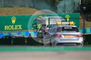 World © Octane Photographic Ltd. Mercedes C63s AMG Medical Car. Saturday 23rd July 2016, GP3 Qualifying, Hungaroring, Hungary. Digital Ref :1646CB1D7394