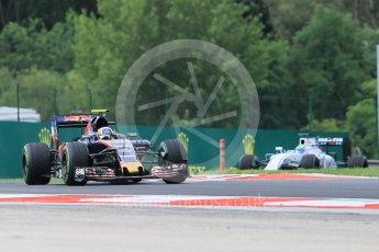 World © Octane Photographic Ltd. Scuderia Toro Rosso STR11 – Carlos Sainz and Williams Martini Racing, Williams Mercedes FW38 – Felipe Massa. Friday 22nd July 2016, F1 Hungarian GP Practice 1, Hungaroring, Hungary. Digital Ref :