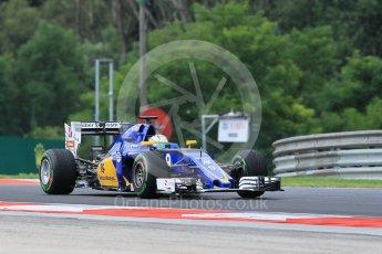 World © Octane Photographic Ltd. Sauber F1 Team C35 – Marcus Ericsson. Friday 22nd July 2016, F1 Hungarian GP Practice 1, Hungaroring, Hungary. Digital Ref :